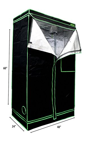 MILLIARD-48-x-24-x-60-100-Reflective-Mylar-Hydroponic-Grow-Tent-with-Window-Great-for-Indoor-Planting-and-Early-Seedling-Starters