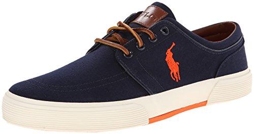 Polo Ralph Lauren Men'S Faxon Low Sneaker, Navy, 8.5 D Us