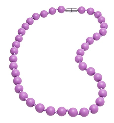 DelooaTM Silicone Baby Teething Nursing Necklace, BPA Free, Teething toy for baby, Better than Baltic Amber (Medium Purple)