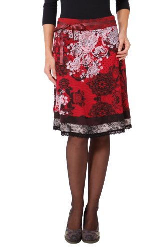 Desigual Women's Lace A-line Knee Skirt Fun