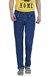 Louppee Jeans Men's Relaxed Jeans (Vkgroup-307_Stone Blue _34)