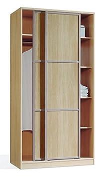 Armario ropero Mozart de dos puertas correderas 100x200 color haya