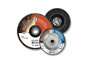 Mercer Abrasives 342040-10 Type 29 Standard Flap Discs Premium Zirconia 4-1/2-Inch by 7/8-Inch, 40 Grit, 10-Pack