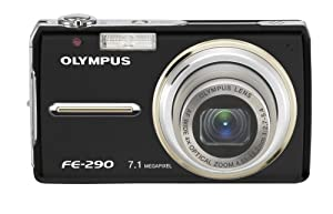 Olympus Stylus FE-290 7MP Digital Camera with 4x Wide Angle Optical Zoom (Black)