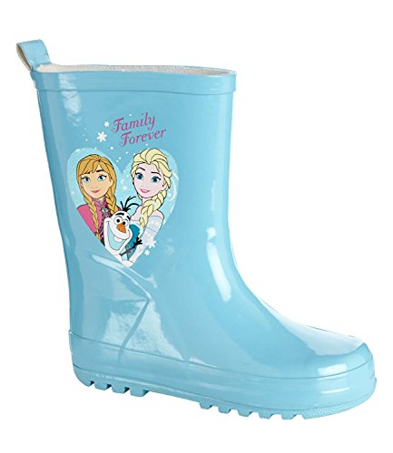 Disney Frozen Elsa e Anna Ragazze Stivali da pioggia 2016Collection-turchese Turquoise 29/30