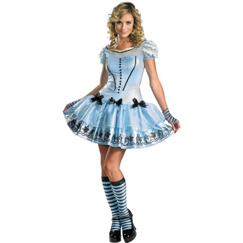 Disguise Women's Alice In Wonderland Movie - Sassy Dress Alice Adult Costume