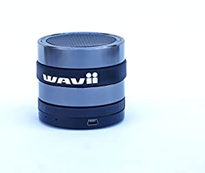 WAVII Bluetooth Speaker great at the beach, Wireless Built-in Microphone listen to music or talk w/o lifting a finger Superbass allows you to truly HEAR fav songs on Iphone/Android/Ipad/Surface Mac PC