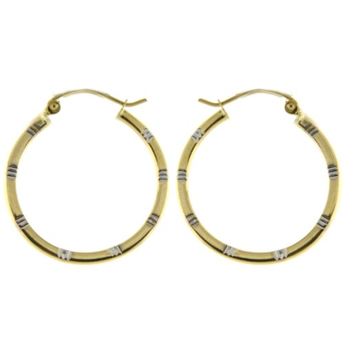 14KT Gold Hollow Hoops 2T DC