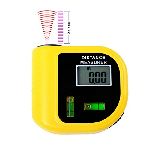 Handheld Laser Rangefinders Ultrasonic Distance Measurer Meter Range Finder LCD (Pan Am Badge compare prices)