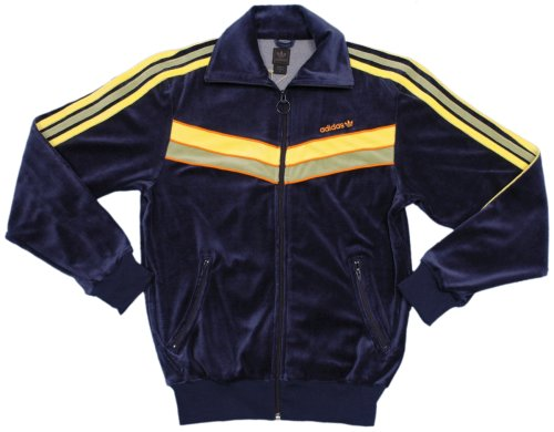 Buy ADIDAS 'W Velour TT' navy track top