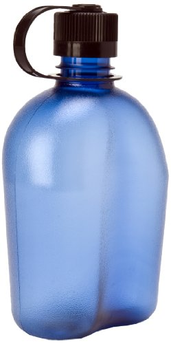 Nalgene 340953 OASIS Blue Bottle With Black Cap, 32 oz (Nalgene Oasis Canteen compare prices)
