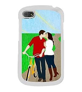 Kissing Love Couple 2D Hard Polycarbonate Designer Back Case Cover for BlackBerry Q10