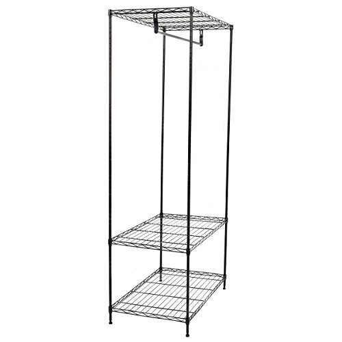 Tangkula 3-Tier Clothing Garment Rack Hanger Shelving Wire Shelf Dress Wardrobe Portable (Wire Shelving And Garment Rack compare prices)