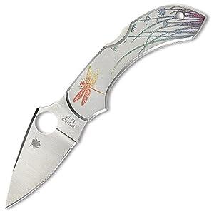 Spyderco Dragonfly SS Tattoo PlainEdge Knife