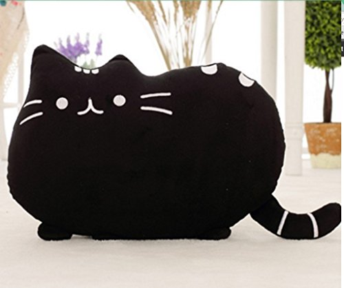 Find Cheap Cartoon Soft Stuffed Animal Cute Pillow Black Cat Cushion Cartoon Pillow