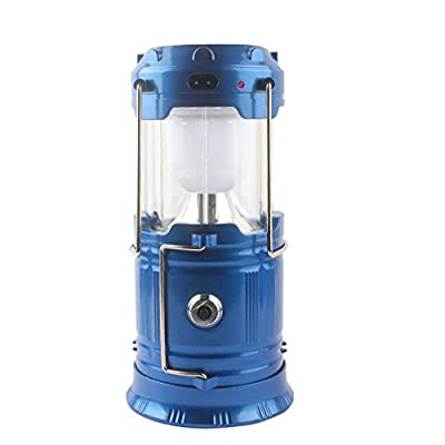LUOYIMAN Outdoor Lantern Flashlight LED Camping Lantern Protable Tent Light Solar Charging by LUOYIMAN
