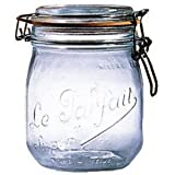 Le Parfait French Glass Canning Jar with 85mm Gasket and Lid - .5 Liter