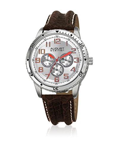 August Steiner Reloj de cuarzo AS8116SS Marrón 44.5 mm