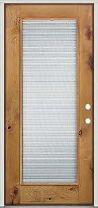 Full Lite Mini Blind Knotty Alder Wood Entry Door Kw2mb Left Hand Door Clearance Center