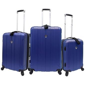 Travelers Choice Luggage Cambridge 3 Piece Hardshell Spinner Set, Blue, One Size