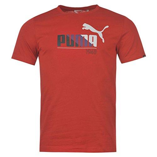 Puma Herren QTT Graph Tee Kurzarm Rundhalsausschnitt Baumwolle T Shirt Tee Top Rot S