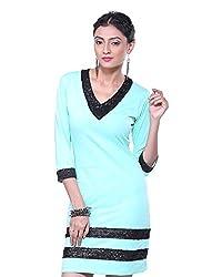 VeaKupia Women's Asymmetric Regular Fit Dress (Mint, 38)