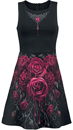 Spiral Blood Rose Abito nero XL