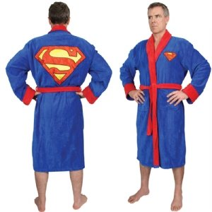 Dc Comic Superman Bath Robe, Adult