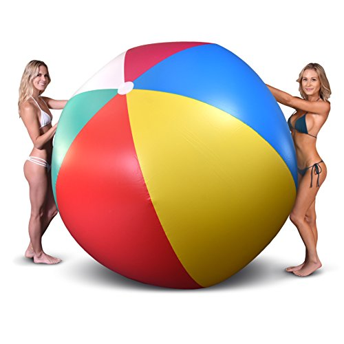 For Sale! GoFloats Giant Inflatable Beach Ball, 6′
