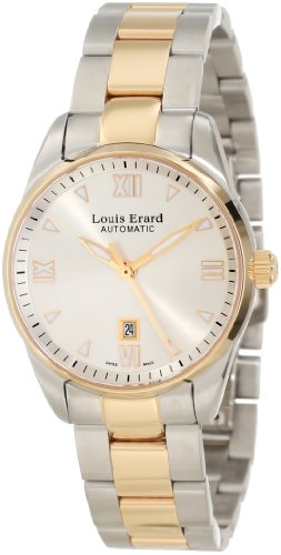 Louis Erard Women's 20100AB21.BMA20 Heritage Automatic Silver Dial Steel and Rose Gold PVD Watch