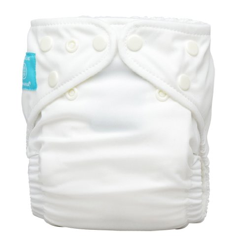 Charlie Banana Diaper In Bellywrap, White, Medium