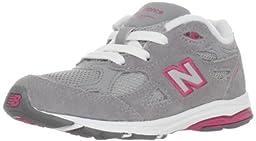 New Balance KJ990 Lace-Up Running Shoe (Infant/Little Kid),Grey/Pink,2 M US Infant