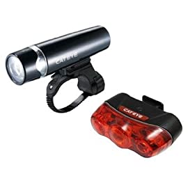 CatEye Uno HL-EL010 Bicycle Headlight /Rapid 3 TL-LD630 Bicycle Taillight Set - 8900222