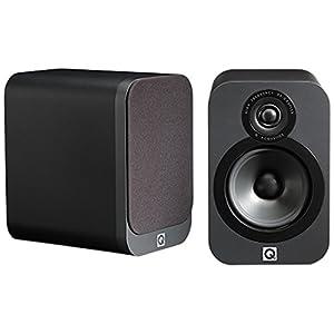 Q Acoustics 3020 Bookshelf Speakers - (Pair) (Graphite)