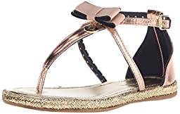 Tommy Hilfiger Kids Sandy Charm Fashion Sandal (Little Kid/Big Kid), Rose Metallic, 3 M US Little Kid