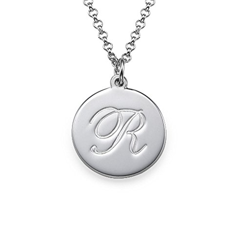Script Initial Pendant Necklace - Custom Made With Any Initial!