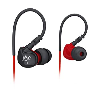 MEElectronics Sport Fi S6 In-Ear Sport Headphone System with Armband, Carry Case for iPhones/iPods/MP3 Players and Smartphones - Red/Black