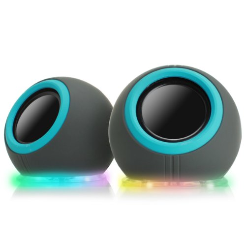 Gogroove Colorful Compact Usb Laptop Speakers W/ Mood Changing Light Up Led Lights For School Kids, College Students, Dorm Rooms, Classrooms & More!