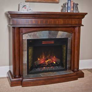 Chimneyfree Aspen Infrared Electric Fireplace Mantel Package In Meridian Cherry - 28Wm1751-C248