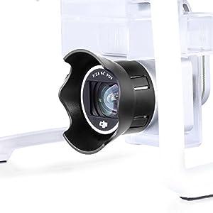 Neewer for DJI Phantom 3 Standard Professional and Advanced, Protective Camera Lens Cap Protector Cover + Flower-type Rose Petal Lens Hood Made of Premium ABS Plastic (Black)