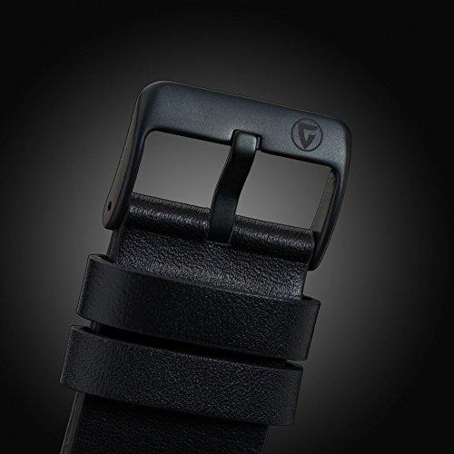 Gigandet Red Baron II Herren Automatik Fliegeruhr - Armbanduhr mit analoger Anzeige - 100m/10atm wasserdicht mit Datumsanzeige, schwarzem Lederarmband und schwarzem Zifferblatt - G9-004 8