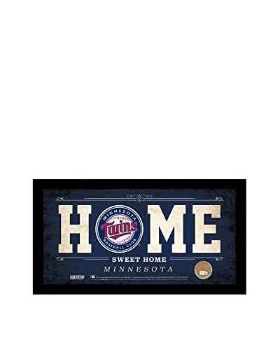 Steiner Sports Minnesota Twins Home Sign with Game-Used Dirt From Target Field