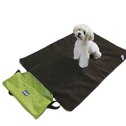 Allisandro-Camping-Decke-Wasserfestwarme-und-wasserdichte-Decke-fr-Haustier-wie-z-B-Hunde-oder-Katzen-mit-Reisetasche-Grn
