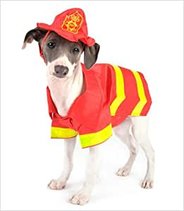 "Fireman Costume for Dogs - Size 0 (7.25"" l x 9.25"" - 10.75"" g)"