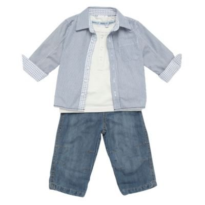 J by Jasper Conran-Baby's shirt, t-shirt and jeans set-3-6 months