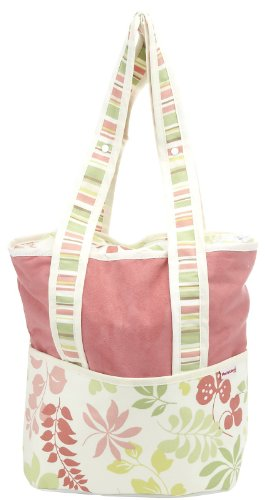 Hoohobbers Tote Diaper Bag, Leaves