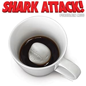 Accoutrements Shark Attack Porcelain Mug by Accoutrements