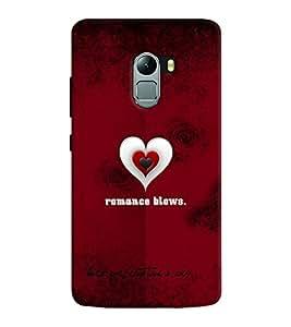 Chiraiyaa Designer Printed Premium Back Cover Case for Lenovo K4 Note (boy girl friend valentine miss kiss heart pattern) (Multicolor)