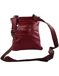 KARP Women's Vintage Casual Stylish Wine Red PU Leather Multi Compartment Shoulder Sling Handbag (HandBag Style...