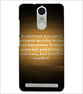PrintDhaba Quote D-4922 Back Case Cover for LENOVO K5 NOTE (Multi-Coloured)